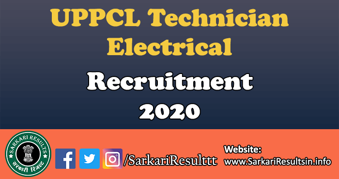UPPCL Technician Electrical Recruitment Answer Key 2021