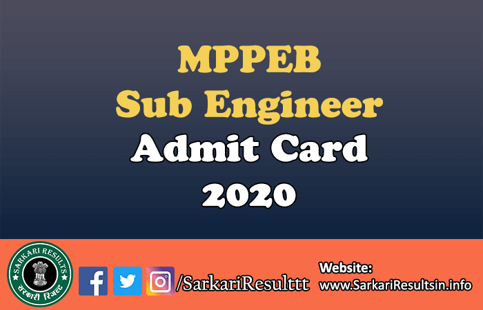 MPPEB Sub Engineer Recruitment Result 2021