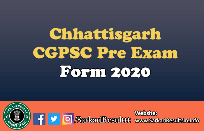 Chhattisgarh CGPSC Pre Exam Admit Card 2021